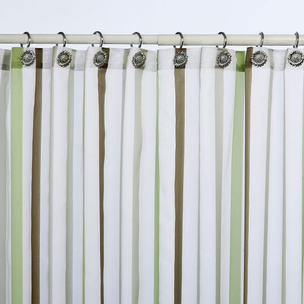 Cortina ba o rayada francavilla for Accesorios para cortinas de bano
