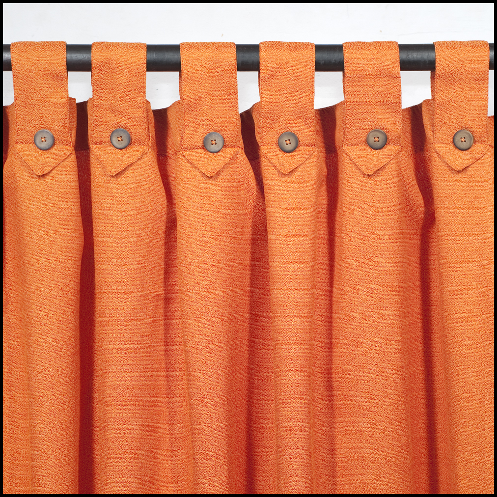 Pin rafia on pinterest for Cortinas naranjas