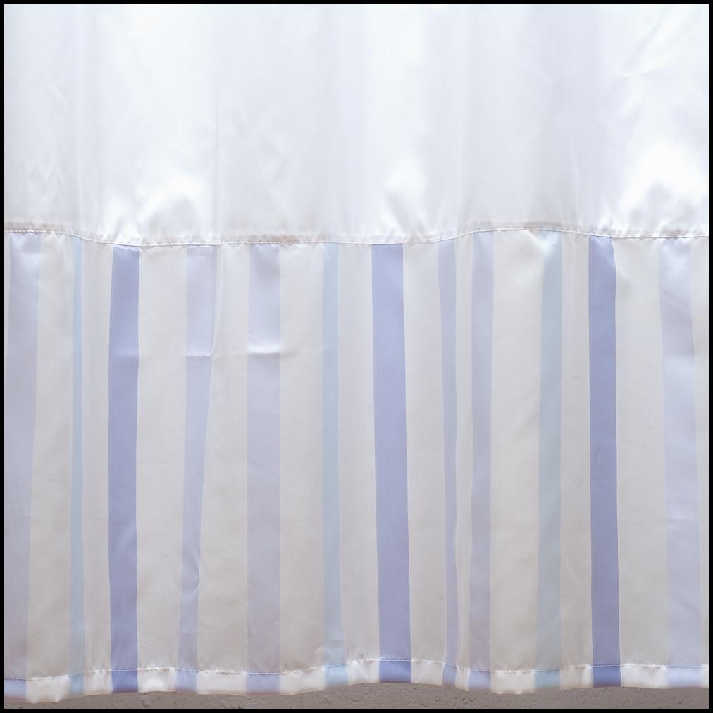 Cortinas De Baño Blancas:Art 10066 Cortina de baño blanca con bajos y volado – lila y celeste
