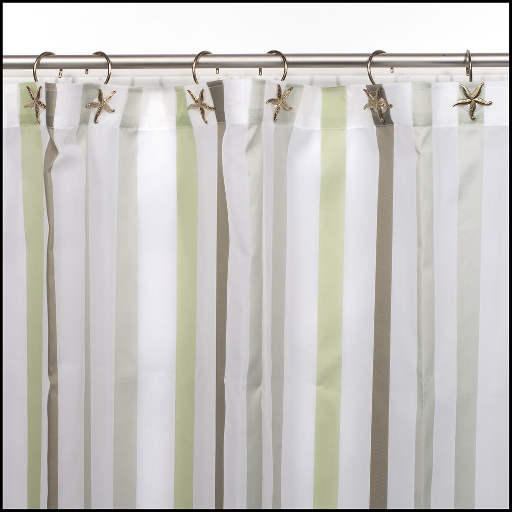 Cortinas de ba o verdes for Anillas de cortinas